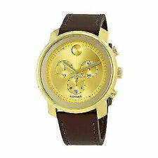 Movado 3600409 Bold 44mm Men's Watch - Gold/Brown