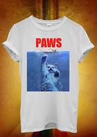 Paws Cat Kitten Meow Parody Hipster Men Women Unisex T Shirt Tank Top Vest 466