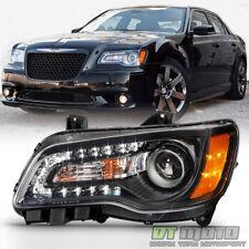 Factor Style Black 2011-2014 Chrysler 300 Halogen LED DRL Headlight Driver Side
