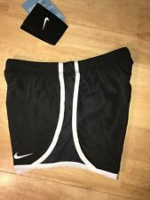 Brand New Girls Black & White Nike Dri Fit Lined Shorts, Size 6X BNWTS