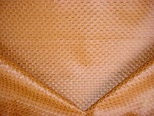 1y  KRAVET VIBRANT RED BROWN MOSAIC LINED LEATHERETTE VINYL UPHOLSTERY FABRIC