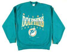 VTG Salem Sportswear Miami Dolphins Crewneck Sweatshirt Mens L NFL Football 90s
