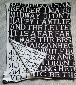 """Punctuate Barnes & Noble Literary Book Quote Soft Knit Throw Blanket 50""""x 60"""""""