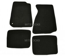 FIT FOR 94-98 FORD MUSTANG BLACK NYLON CARPET FLOOR MATS 4 PIECES NEW