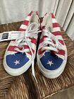 Superga Red White Blue Patriotic Flag Canvas Sneakers Shoes Size 3.5 WS89