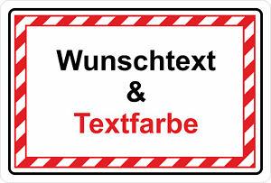 Schilder Schild Verbotsschild Hinweisschild - Wunschtext & Textfarbe