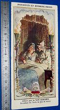 RARE GRAND CHROMO 1895-1910 VIN GIRARD HUILE FOIE MORUE CHANSON MR & MME DENIS