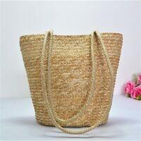 Straw Hand-woven Clutch Bag Fashion Shoulder Bag Women Summer Beach Purse