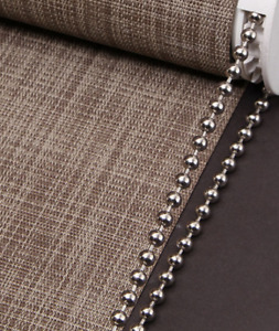ROLLER/ROMAN BLIND METAL NICKEL BEADED CHAIN  4.5MM BALL SOLD BY THE METRE
