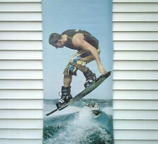 """SEXY WAKEBOARD MAN LAKE VINYL OUTDOOR SIGN BANNER COMMERCIAL MAN CAVE 30"""" x 82"""""""