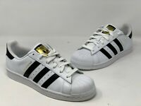 ADIDAS KIDS ORIGINALS SUPERSTAR SHOES C77154 WHITE/BLACK/WHITE Size 6.5