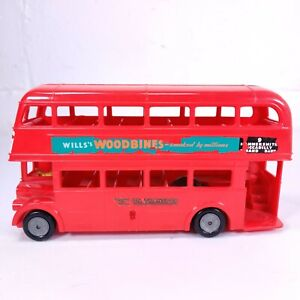 United Kingdom Mettoy London Transport Double decker Bus Woodbines - Made in GB