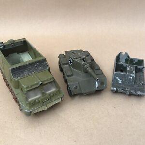 Vintage Dinky Lone Star Die Cast Military Vehicle Job Lot Shado Tank Bren Gun