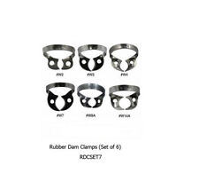 Rubber Dam Clamps(Set of 6)-RDCSET7 Dental Instruments (Tools) Shipped Fr Canada