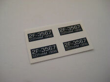Corgi 107 Batman Batboat Trailer Number Plates Stickers - B2G1F