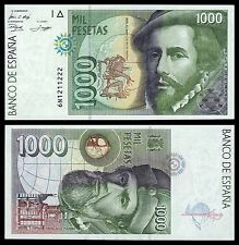 España - Spain  1000 Pesetas 12-10-1992 Pick 163  SC = UNC