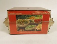 Great American Recipes Cards and Case Vintage 1988 Appetizers Entree Dessert