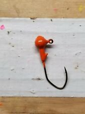 1/16 oz flourescent red jig heads 100ct. w/#2 bronze Eagle Claw Lil' Nasty hook