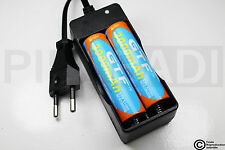 .CHARGEUR RX-77 + 2 PILES ACCU RECHARGEABLE 18650 3.7v 3000mAH BATTERY BATTERIE