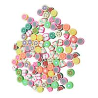 100 Mixed Color Fimo Polymer Clay Fruit Spacer Beads G1M4) SX