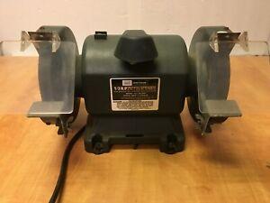 "Sears Craftsman 1/3 HP Bench Grinder 6"" Wheels Roller Bearings USA 257.191300"