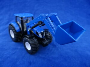 TOP ! SIKU - 1/50 NEW HOLLAND T7070 - TRACTEUR CHARGEUR Tractor Loader 1986