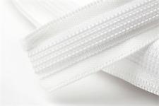 Polyester satin rigilene couvert désossage 15mm x 1 m en blanc
