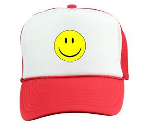 Trucker Hat Cap Foam Mesh Smiley Face Smile Happy