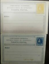 O) 1880 VENEZUELA, ERROR CUT- PAIR- 25 CENTS ORANGE - 5 CENTS BLUE- UPU. POSTAS