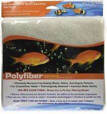 """Penn Plax Polyfiber Filter Media Pad 30"""" x 18"""" for Aquariums & Ponds"""
