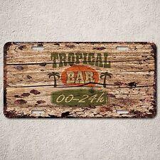 LP0129 Tropical Bar 24Hour Auto License Plate Rust Vintage Home Store Decor Sign