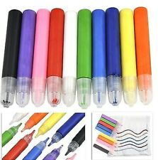 32  pack  FABRIC PAINTS PENS PERMANENT T-SHIRT CLOTHES ASSORTED COLOURS