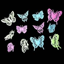 Set 12pcs Glow in the Dark Butterfly sticker/Fluorescent Wall /party Decor giyt