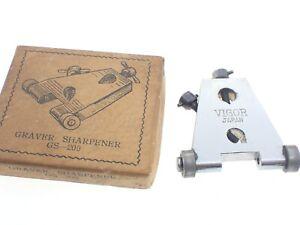 Vintage VIGOR Watchmakers SCREWDRIVER & GRAVER SHARPENER tool VERY good used