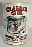 Clabber Girl Baking Powder Double Acting 8.1 Ounce Gluten Free Fast Shipping!