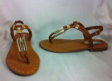 Steve Madden Braidie Women Shoes Cognac Leather Sandals Size 7 M