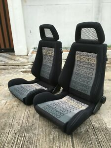2 RARE GENUINE RECARO SEATS FROM JAPAN FIT FOR UNIVERSAL AND JDM CAR BMW AUDI EF