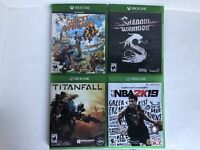 Xbox One Games Lot- Shadow Warrior, Sunset Overdrive, Titanfall, NBA2K19