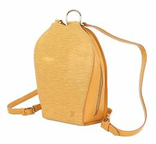 Authentic LOUIS VUITTON Mabillon Yellow Epi Leather Backpack Bag Purse#17083