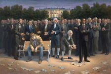 Jon McNaughton THE FORGOTTEN MAN 44x66 S/N Americana Patriotic Canvas Art Print