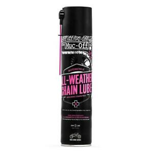 Muc-Off All Weather Chain Lube Motorcycle Motorbike Chain Lubricants 400ml