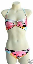 New Rusty Reversible Bikini Size 10 Two Piece Surf Swimwear Set Halter RRP$80