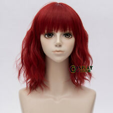 35cm Halloween Lolita Red Short Curly Popular Party Cosplay Wig+Wig Cap