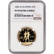 1984-W US Gold $10 Olympic Commemorative Proof - NGC PF69 UCAM