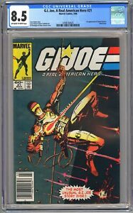 G.I. JOE A REAL AMERICAN HERO #21 CGC 8.5 OW/WP  VF+ NEWSSTAND EDITION
