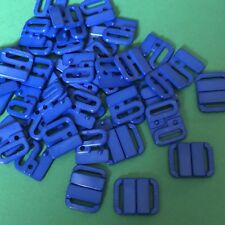 2 x 18mmx22mm Royal Blue Bikini Fasteners To Fit 12mm Strap #1468