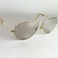 Vintage Ray Ban B&L AVIATOR GREY CHANGEABLES LIC 10K GOLD Sunglasses 58mm pilot