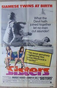 "SISTERS One sheet Original US Movie Poster 27x41"" 69x104cm fIlm 73/123 VF C8"
