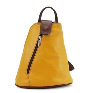 Womens Leather Backpack Anti-Theft Rucksack Bag Soft Italian Leather