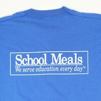 Vtg Lunch Lady School Meals T-Shirt XL Screen Stars Single Stitch 90s Grunge